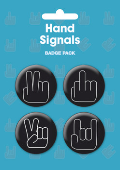 HAND SIGNALS Badges