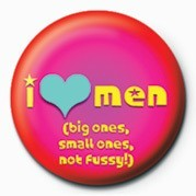 I LOVE MEN Badge
