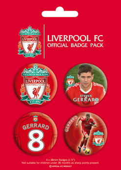 LIVERPOOL - gerrard Badges