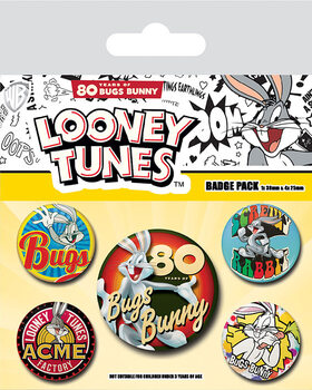 Badges Looney Tunes - Bugs Bunny 80th Anniversary
