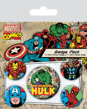 Badge  Marvel Retro - Hulk