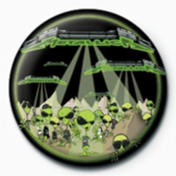 METALLICA - aliens  GB Badge