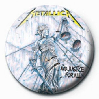 METALLICA - justice for all GB Badges