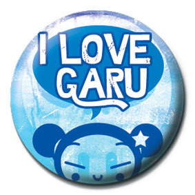 PUCCA - i love garu Badge