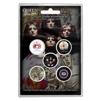 Set de badges Queen - Early Albums
