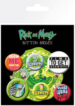 Set de badges Rick and Morty - Quotes