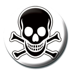 SKULL and CROSSBONES - Black Badge