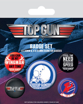 Badge sæt Top Gun - Iconic