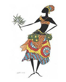 Baga Woman Festmény reprodukció