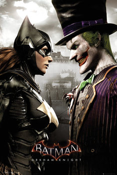 Batman Arkham Knight - Batgirl and Joker - плакат (poster)