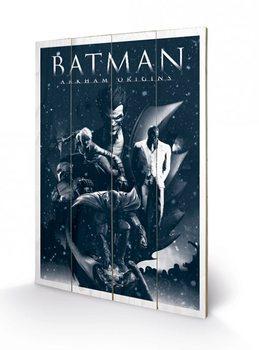 Batman Arkham Origins - Montage plakát fatáblán