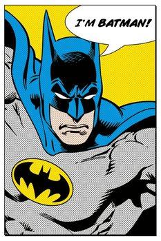 BATMAN - i'm batman - плакат (poster)