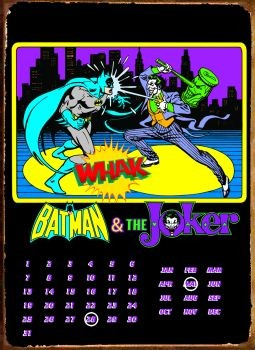 BATMAN & JOKER Metalen Wandplaat