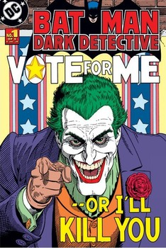 BATMAN - joker vote for me - плакат (poster)