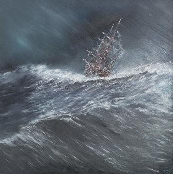 Beagle in a storm off Cape Horn (2) Dec.24th1832, 2014, Festmény reprodukció