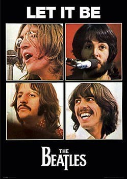 Beatles - let it be - плакат (poster)