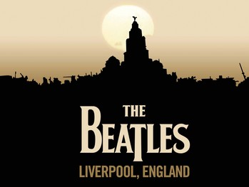 BEATLES LIVERPOOL Metalplanche