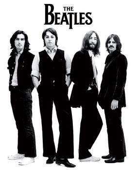 Beatles - white - плакат (poster)