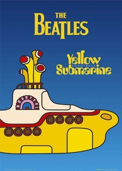 Beatles - yellow submarine - плакат (poster)