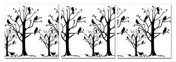 Modern design - black trees Moderne bilde
