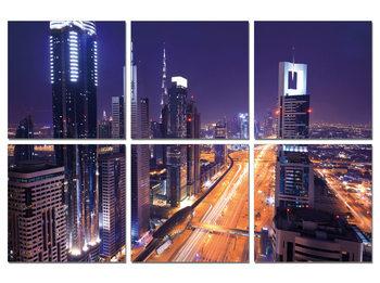 Night traffic Moderne bilde