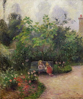 Canvastavla A Corner of the Garden at the Hermitage, Pontoise, 1877