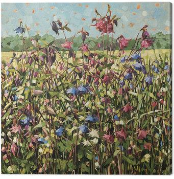 Canvastavla Anne-Marie Butlin - Aquilegia