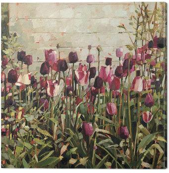 Canvastavla Anne-Marie Butlin - Tulip Garden