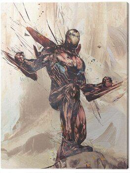 Canvastavla Avengers: Infinity War - Iron Man Sketch
