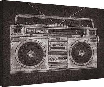 Canvastavla Barry Goodman - Ghetto Blaster