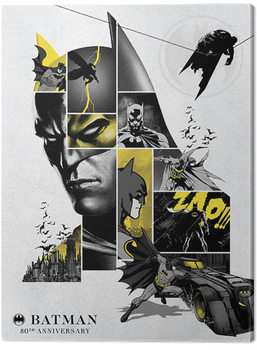 Canvastavla Batman - 80th Anniversary