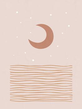 Canvastavla Blush Moon
