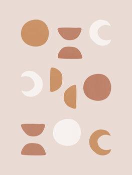 Canvastavla Blush Moon Phases