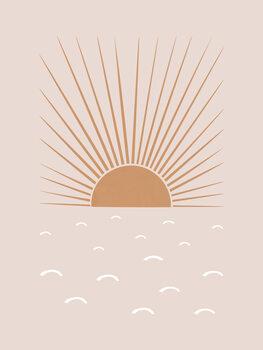 Canvastavla Blush Sun