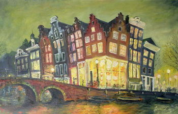 Canvastavla Bright Lights, Amsterdam, 2000