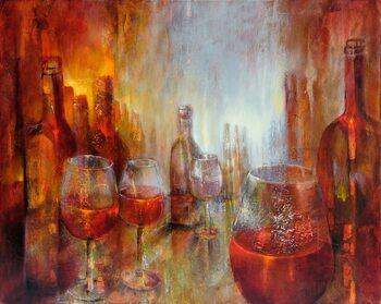 Canvastavla Burgundy