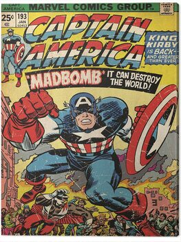 Canvastavla Captain America - Madbomb