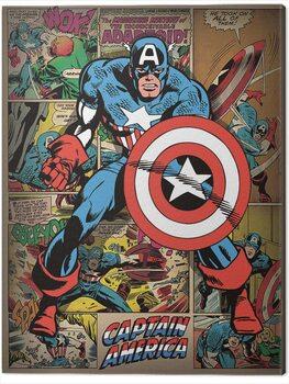 Canvastavla Captain America - Retro