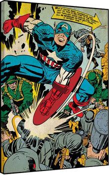 Canvastavla Captain America - Soldiers