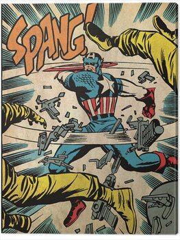 Canvastavla Captain America - Spang