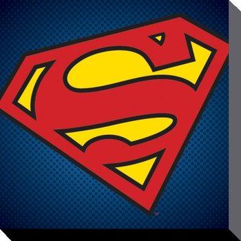 Canvastavla DC Comics - Stålmannen Symbol