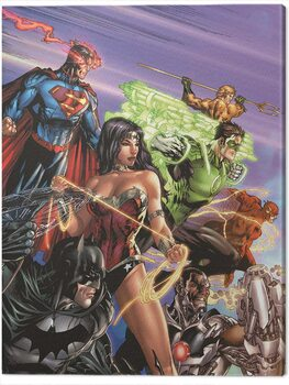 Canvastavla DC Justice League - Ready For Action