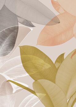 Canvastavla Delicate leaves i