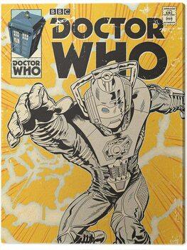 Canvastavla Doctor Who - Cyberman Comic