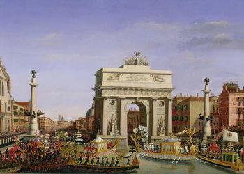 Canvastavla Entry of Napoleon I (1769-1821) into Venice, 1807