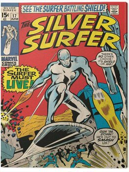 Canvastavla Fantastic Four 2: Silver Surfer - Must Live