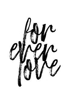 Canvastavla Forever love