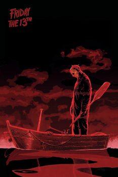 Canvastavla Fredag den 13: e - Båt