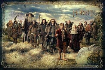 Canvastavla Hobbit - En oväntad resa