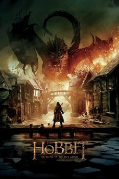 Canvastavla Hobbit - Smaug